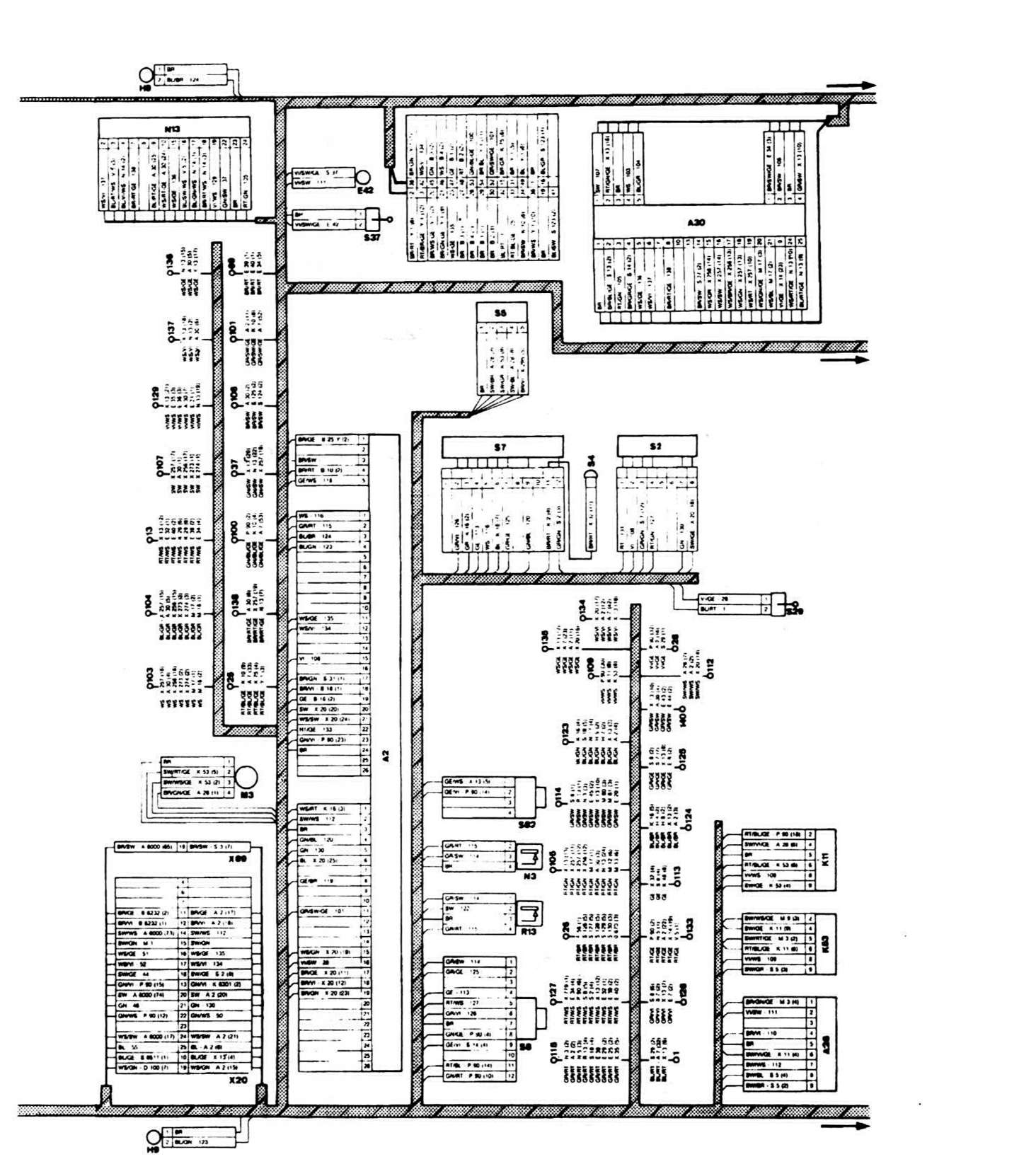 схема разъема блока абс бмв е36